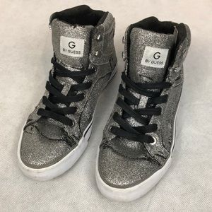 Guess Sparkly Silver Sneakers